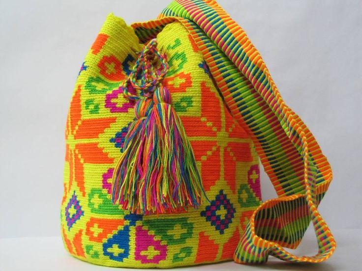 Neon Wayuu Mochila Bag