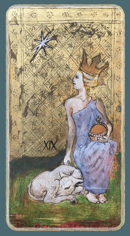 Faith - Tarot card from the book Constant Guests by Patricia Nedelea #Tarot #Faith #book