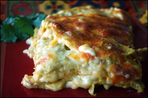 """Enchilada Lasagna! One pinner wrote, """"LOVE this recipe. It's easy, has few ingredients, and is absolutely DELISH."""""""