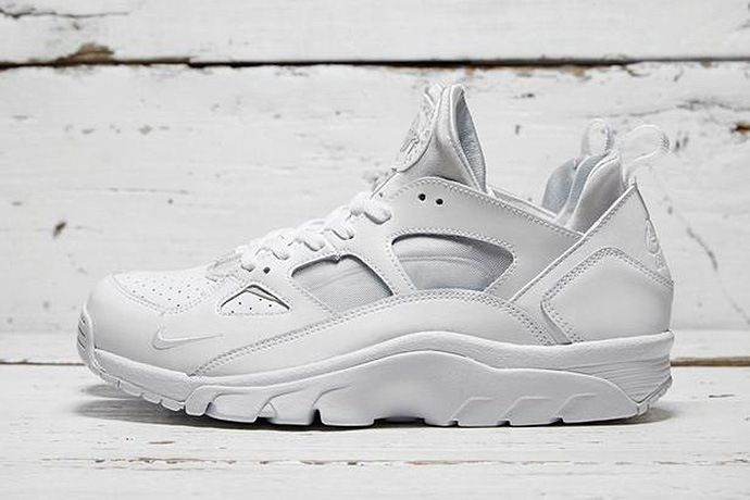 "Nike Air Trainer Huarache Low ""White/White"""