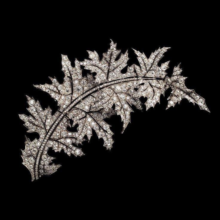 Diamond Thistle Aigrette and Brooch by Octave Loeuillard for Boucheron - Circa 1878