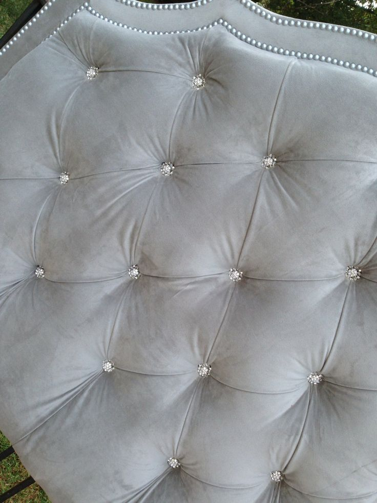Tufted Headboard King Queen Full Twin Gray By