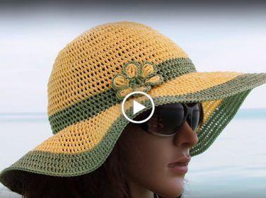 Örgü Hasır Şapka Yapımı – Videolu Anlatımla Bayan Örgü Şapka Yapımı
