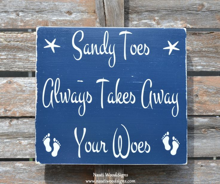beach sign beach decor sandy toes takes away your woes wall art wood sign nautical rustic theme quotes sayings beachy gift coastal hand