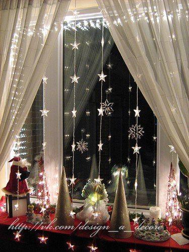 Украшаем окна к новому году..Идеи...