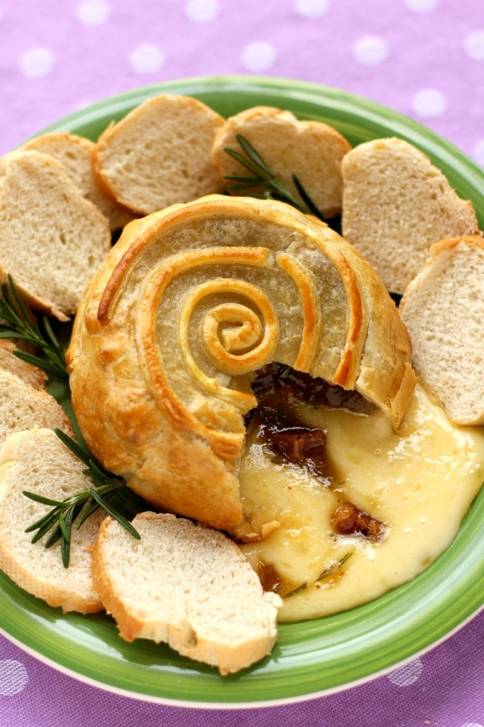 Brie En Croute with Figs & Rosemary