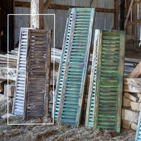 vintage type wooden shutter | wooden shutters for indoor use | inside wooden shutters | rustic wooden shu…
