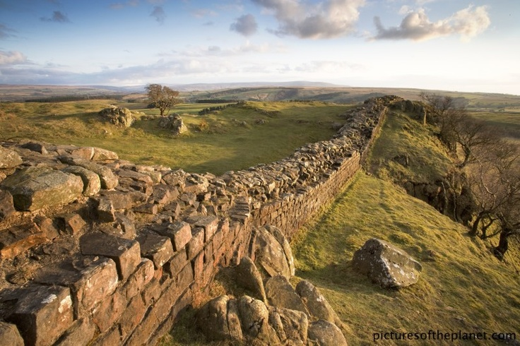 A section of the famous Hadrian's wall in Northumberland