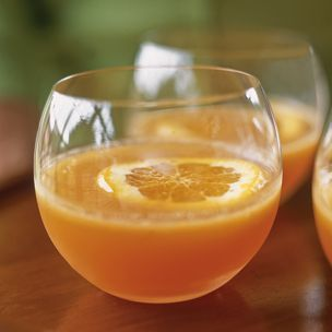 Orange drink garnish