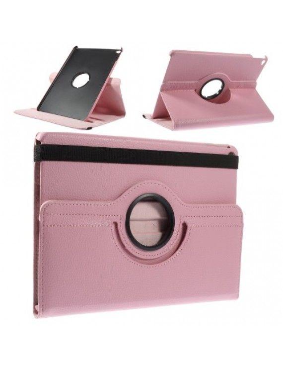 Περιστρεφόμενη Δερμάτινη Θήκη Βιβλίο με Βάση Στήριξης για iPad Air 2 - Ροζ
