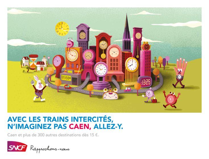 Campagne SNCF Intercités / Caen par TBWA France
