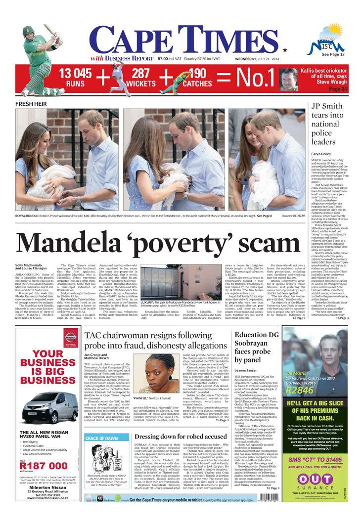 News making headlines: Mandela 'poverty' scam