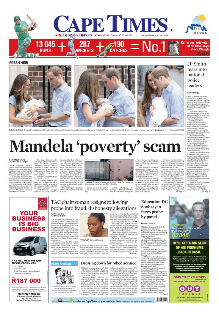News making headlines: Mandela 'poverty' scam