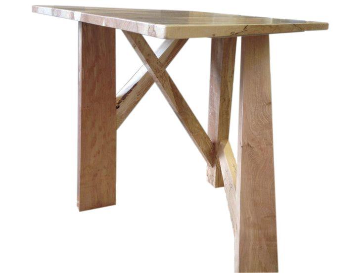 Bjarne Holt spalted maple angular small table
