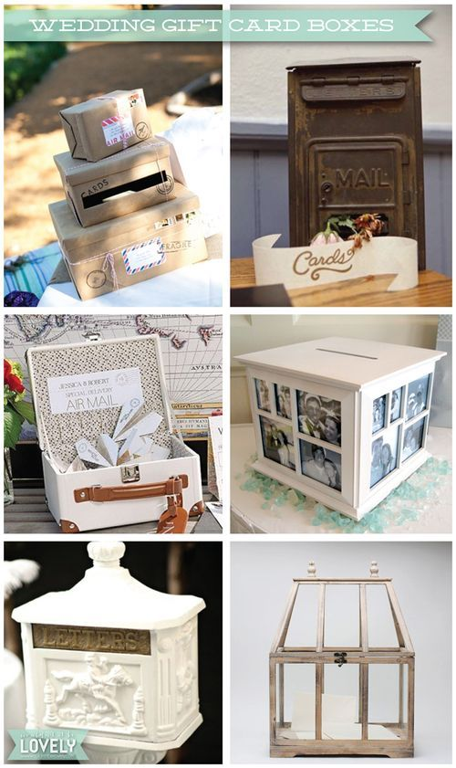 creative and pretty ideas for wedding gift card boxes, gift card receptacles, gift table decor, Wouldn't it be Lovely