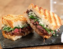 Grilled Skirt Steak Panini with Blue Cheese and Balsamic Shallot Marmalade | Wisconsin Milk Marketing Board