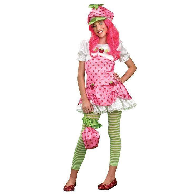 Deluxe Strawberry Shortcake Costume Kids Tween Halloween Fancy Dress