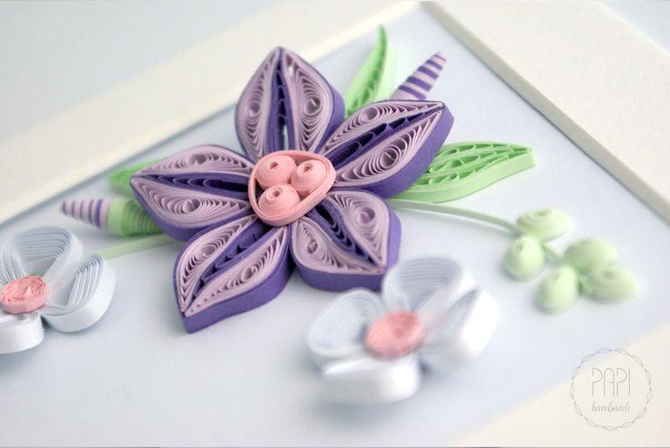 kwiatki quilling ozodba papierowe kwiaty ręcznie robione