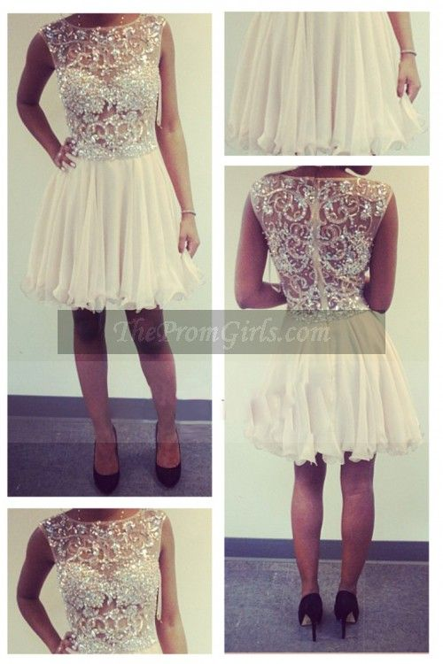 2015 Sweet 16 Dresses A Line Scoop Sleeveless Short/Mini Tulle With Beading/Sequins - Homecoming Dresses - shop dresses $199.69