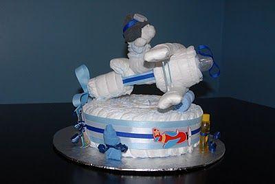 Sweet Mommy Treats: Airplane Diaper cake