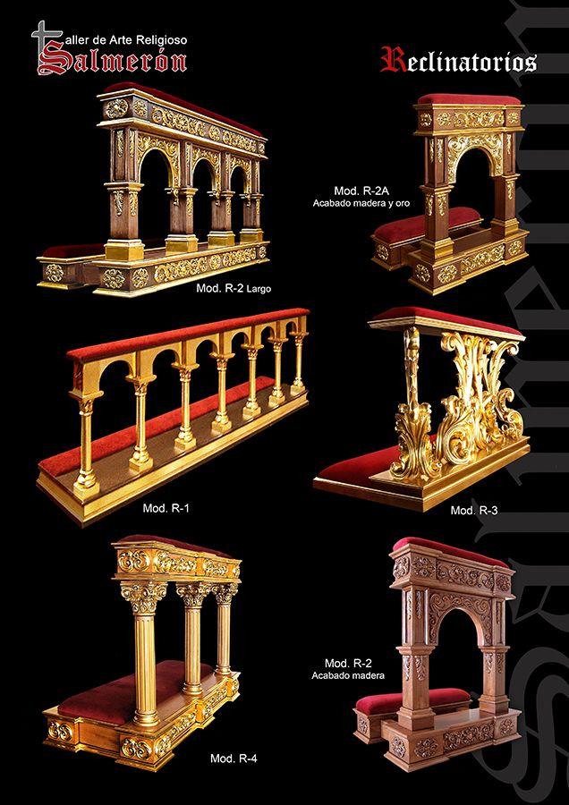 Reclinatorios madera tallada arte religioso salmeron
