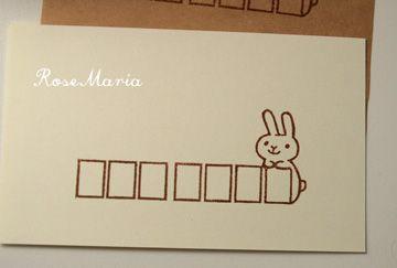 うさぎの郵便番号枠:RoseMaria