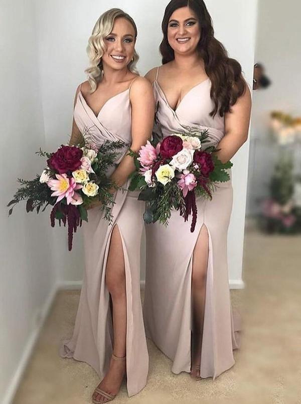 2d41e0665e545 Spaghetti Strap Simple Bridesmaid Dresses Plus Size Bridesmaid Dress  ARD1751-SheerGirl