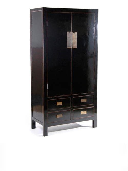 Chinese Black Wardrobe