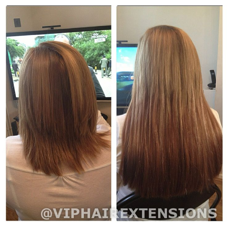 """18"""" mini micro rings on thick short hair www.viphairextensions.co.uk"""