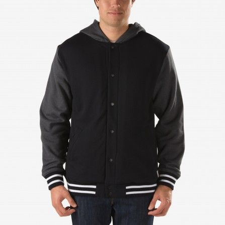 Vans Black/New Charcoal Heather University II Sherpa Hoodie