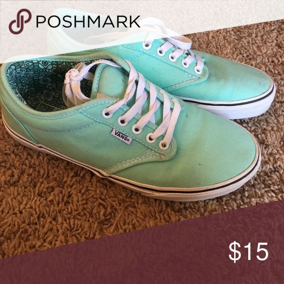 Mint green vans Only worn a few times great condition Vans Shoes Sneakers