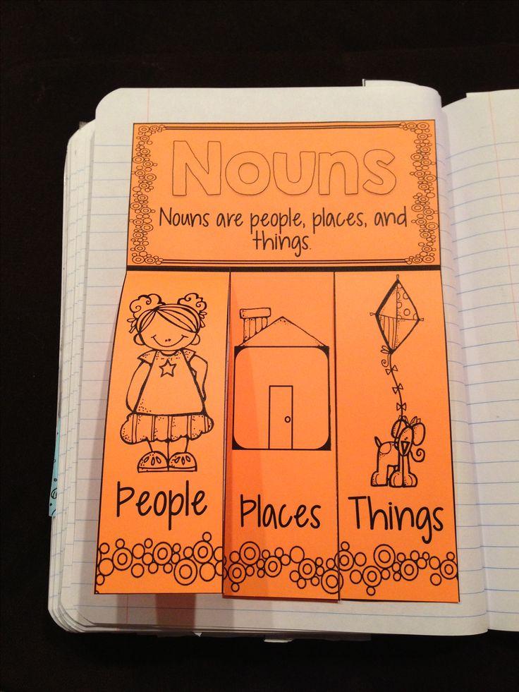 Interactive grammar notebook- nouns http://www.teacherspayteachers.com/Product/Interactive-Grammar-Notebook--938404