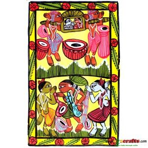 Patachitra Painting, Tribal art - Wall Hanging - Rs 280 - Hand Made Crafts - Buy & Sell Indian Handmade Crafts and Handmade Jewelry and Gifts