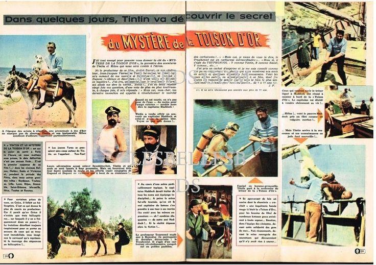 Doc/Clipping (Ref Lim 96849 ) 11/1961: TINTIN AU CINEMA LA TOISON D'OR 2pages in Livres, BD, revues, Journaux, revues, magazines, Autres | eBay