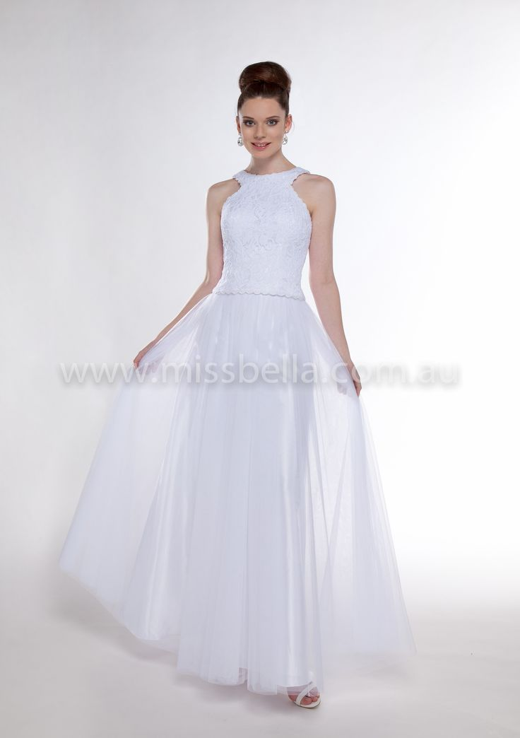 Alexis Deb Dresses Long Bodice with Tuelle skirt