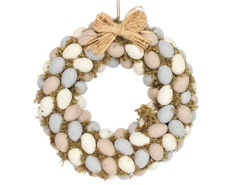 Gisela Graham Pastel Moss Egg Wreath
