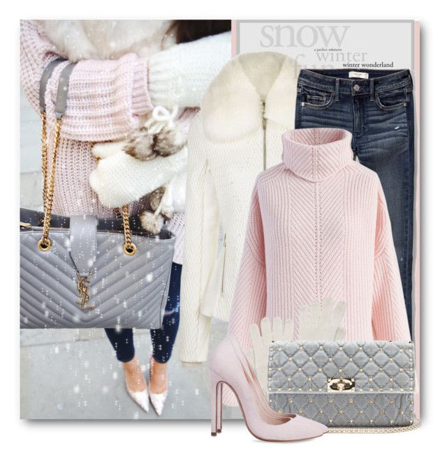 """""""Winter Jeans & Heels"""" by brendariley-1 ❤ liked on Polyvore featuring Fusalp, Abercrombie & Fitch, Chicwish, agnès b., Valentino, Winter and snow"""