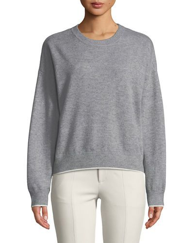 32bc600b Double-Layer Cashmere Cotton Crewneck Pullover Sweatshirt | wanted ...