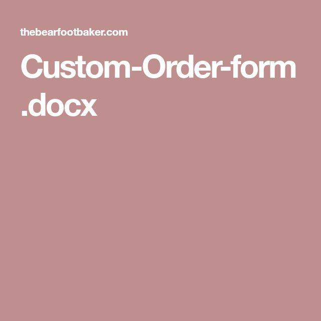 Viac ako 25 najlepších nápadov na Pintereste na tému Cake order forms - free order form