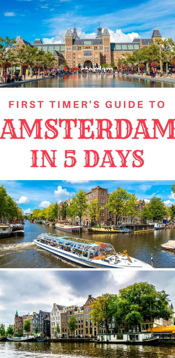 First time in Amsterdam? Things to do in Amsterdam in 5 days. What to do in Amsterdam in 5 days as a first time visitor. A complete 5 day itinerary.