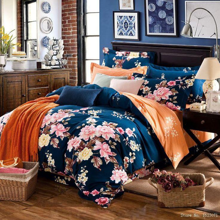 4 pcs boho floral lençóis de cama-sets princesa rosa bonito bowknot roupa de cama capa de edredão fronhas folha de rosto rainha gêmeo rei