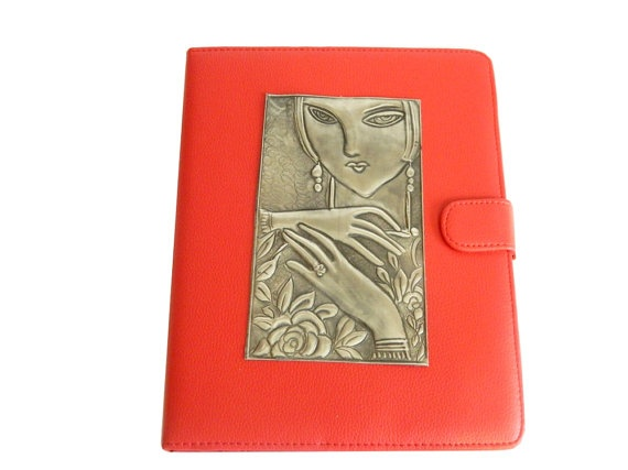 Apple IPad Leather Case lady face by Loutul on Etsy, £45.00
