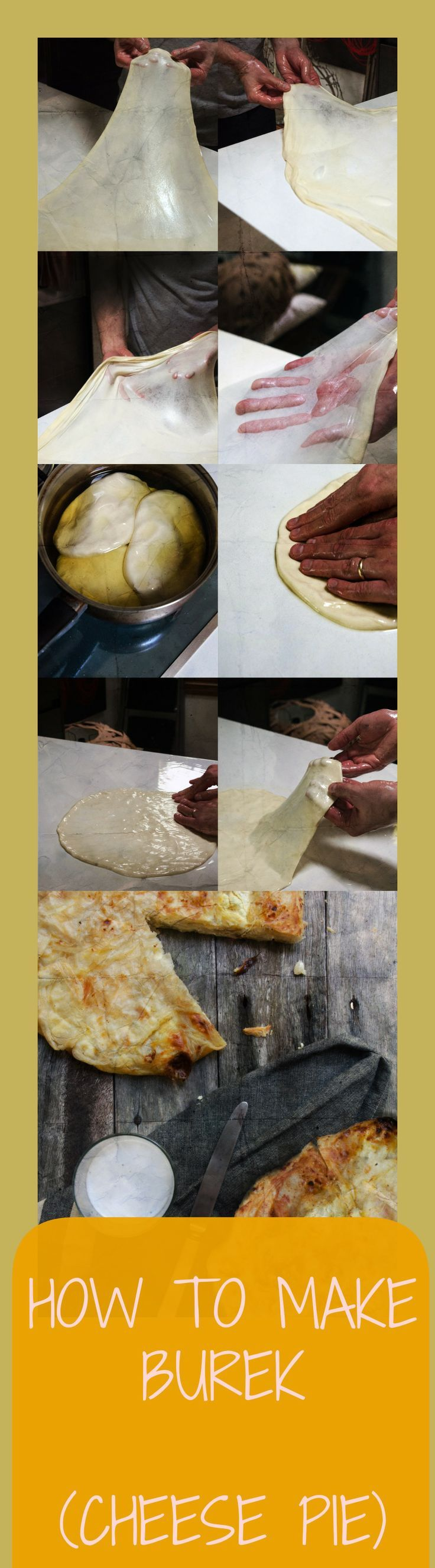 How to make #Croatian #Burek.  Croatian burek recipe I have made burek loads of times along with many of these other Croatian recipes. Although, I have never made burek properly & never this well. Burek is made here in Croatia and also in many of the ex Yugoslavian countries plus in a bunch of other parts of the world. I have heard it referred to as bourék, byurek, pita, bourekas and cheese pie, but Croatian Burek is WAY better than any pie I have ever had.