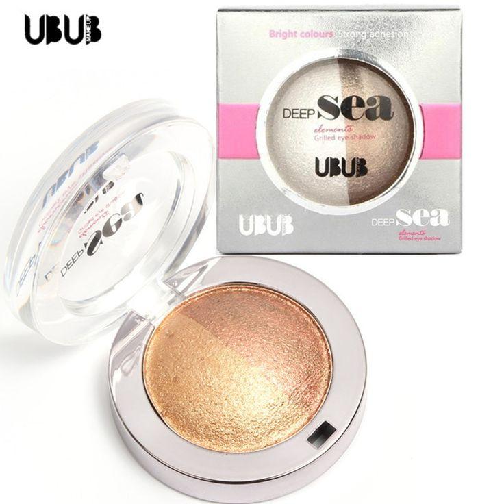 1 PCS Double Color Glitter Eyeshadow Brand UBUB Professional Nude Eyeshadow Palette Makeup Shimmer Eye Shadow Palette Make Up