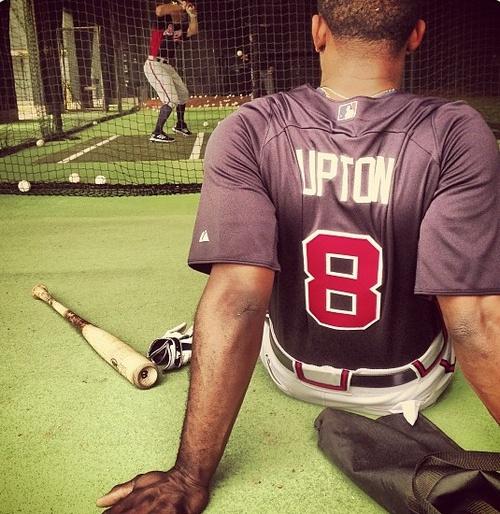 Justin Upton #8 Atlanta Braves