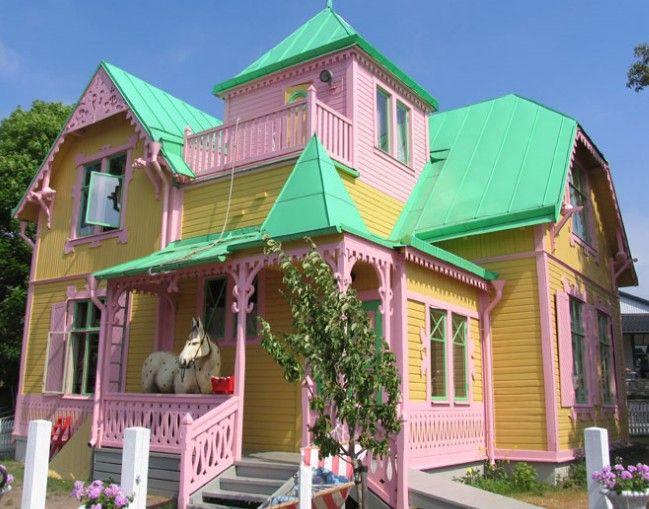 "Pippi Longstocking House (Villa Villekulla) This house appears in the books of Astrid Lindgren's Pippi Longstocking adventures of a girl. He also used during the filming of children's film ""Pippi Longstocking"" in 1969."