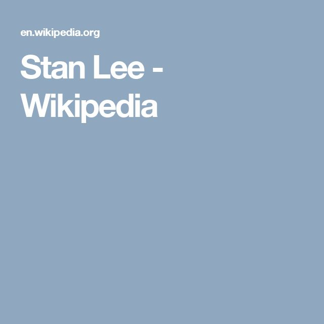 Stan Lee - Wikipedia
