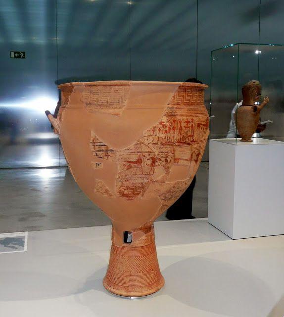 Vase funéraire, Athènes, Grèce, vers 730 av.J.C. - Louvre-Lens