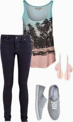 Cute summer outfit..... Although I think shorts would be better than jeans it's way to hot for jeans now