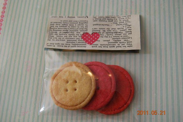 Vintage Button Biscuits